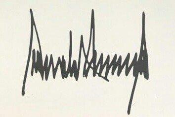Подпись Трампа